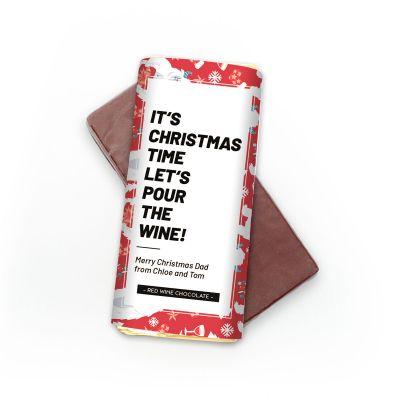 Exklusive Schokoladen - Personalisierbare Rotwein Schokolade