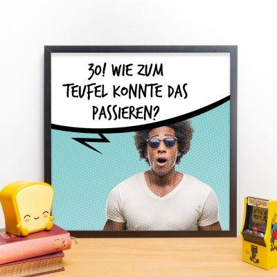 Deko - Personalisierbares Poster mit Foto und Sprechblase