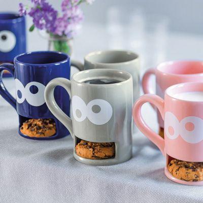 Tassen & Gläser - Monster-Tasse mit Keks-Fach