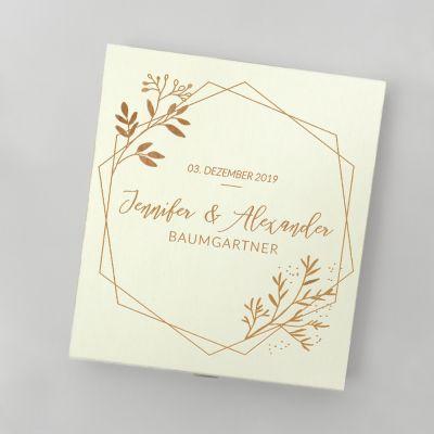 Hochzeitstag Geschenk - Pralinenbox für Paare
