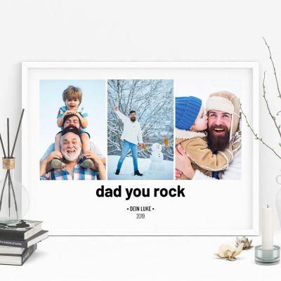 Exklusive Poster - Poster mit 3 Bildern und Text