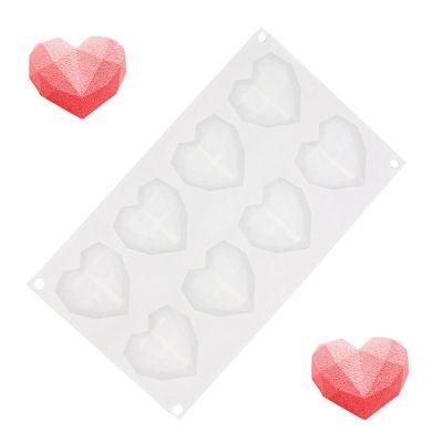 Romantische Geschenke - Herz Backform  aus Silikon