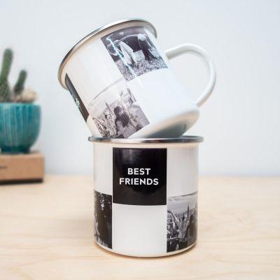Personalisierte Tassen und Gläser - Personalisierbare Metalltasse mit Fotos und Text