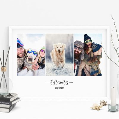 Hochzeitstag Geschenk - Poster mit 3 Bildern und Text