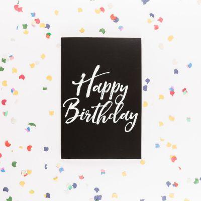 Karten - Die endlose Geburtstagskarte mit Glitter