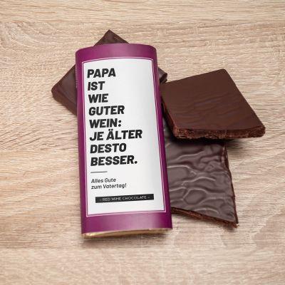 Essen & Trinken - Personalisierbare Rotwein Schokolade