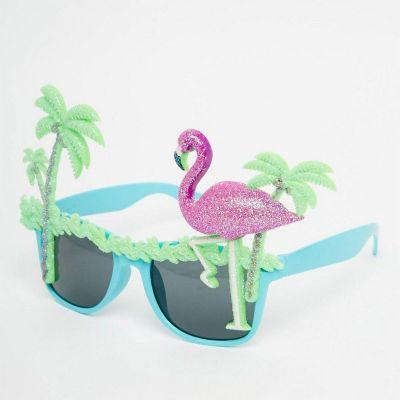 Accessoires - Flamingo-Sonnenbrillen mit Palmen