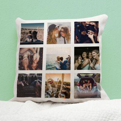 Hochzeitstag Geschenk - Personalisierbarer Kissenbezug mit 9 Bildern