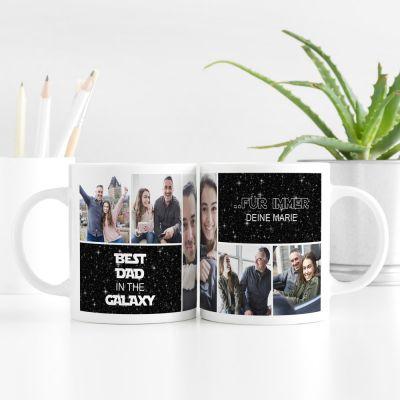 Hochzeitstag Geschenk - Personalisierbare Tasse mit 5 Bildern und Text