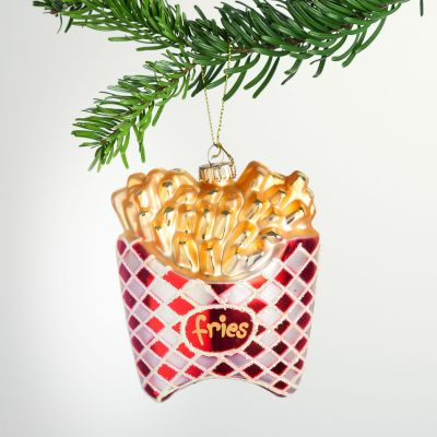 Weihnachtsdeko - Pommes Frites Christbaumschmuck