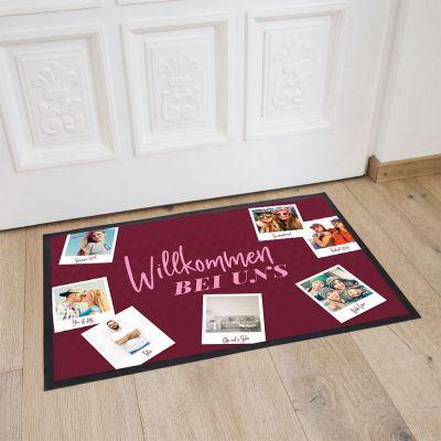 Deko - Personalisierbare Fußmatte mit 7 Bildern und Text