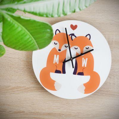 Uhren - Personalisierbare Fuchs Wanduhr für Paare