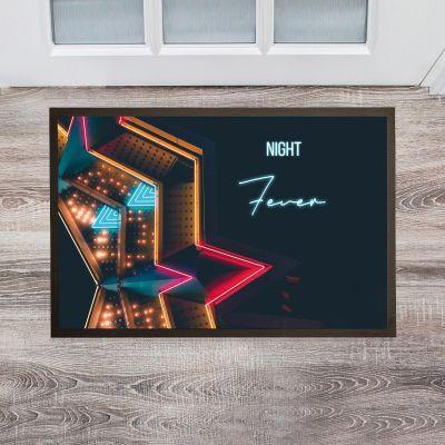 Personalisierte Fußmatten - Personalisierbare Fußmatte im Neon-Look