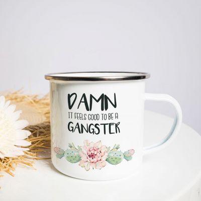 Exklusive Tassen und Gläser - Metalltasse Gangster
