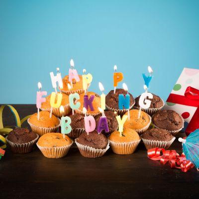 Geburtstagsgeschenk zum 30. - Happy Fucking Birthday Kerzen