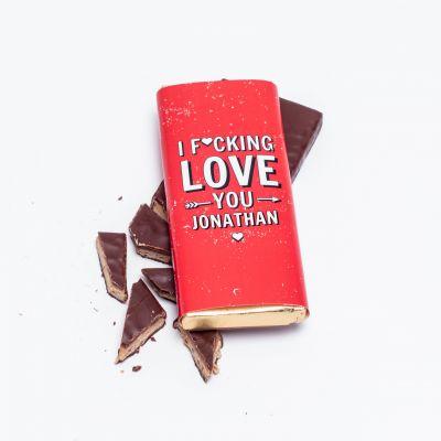 Exklusive Schokoladen - Personalisierbare Schokolade I F[...]ing Love You