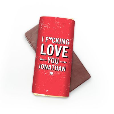 Essen & Trinken - Personalisierbare Schokolade I F[...]ing Love You