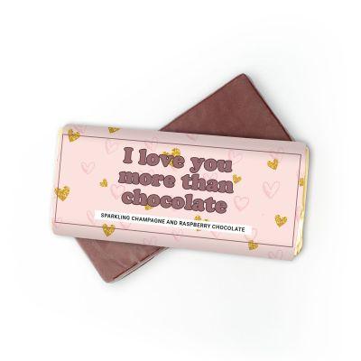 Süßigkeiten - Champagner-Himbeer Schokolade I Love You More