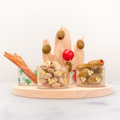 Küche & Grill - Kaktus Aperitif-Set mit Gläsern und Sticks