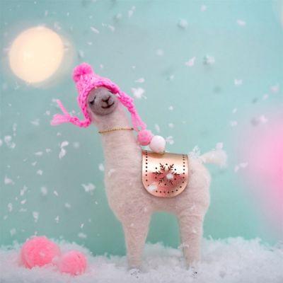 Wohnen - Fa La La Lama mit rosa Mütze