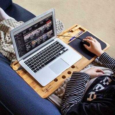 Weihnachtsgeschenke - Laptop Unterlage aus Holz