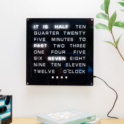 Uhren - LED Word Clock Maxi