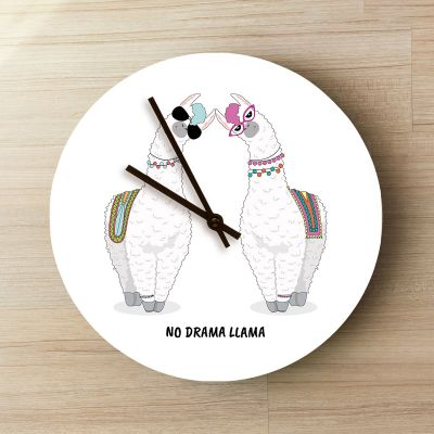 Exklusive Uhren - Personalisierbare Lama Wanduhr