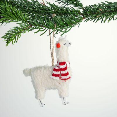 Weihnachtsdeko - Lama Christbaumschmuck