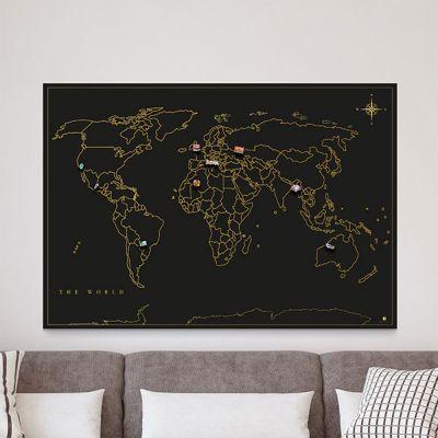 Deko - Magnet-Sammel Weltkarte