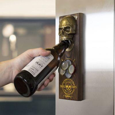 Biergeschenke - Magnetischer Totenschädel Flaschenöffner