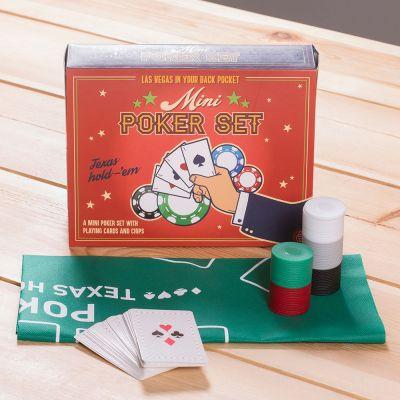 Weihnachtsgeschenke für Freund - Mini Poker Set