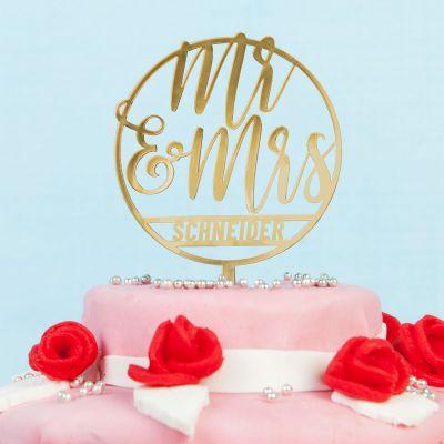 Deko - Personalisierbarer Cake Topper zur Hochzeit
