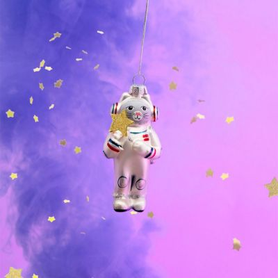 Wohnen - Weltraum-Katze Christbaumschmuck