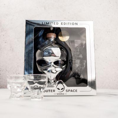 Alkohol - Outerspace Vodka Geschenkbox mit 2 Gläsern