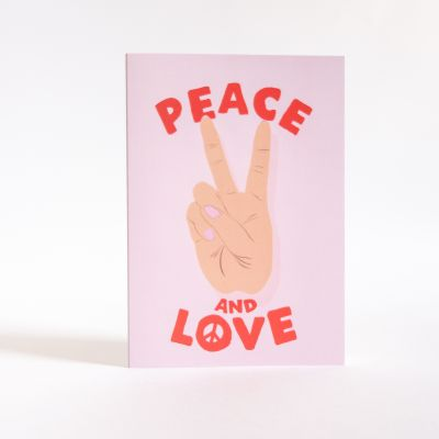 Karten - Grußkarte Peace & Love