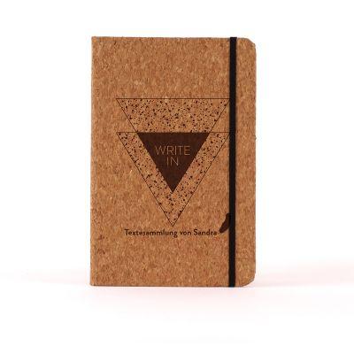 Geschenk zum Abschluss - Personalisierbares Kork Notizbuch - Write In