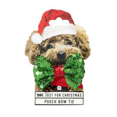 Wichtelgeschenke - Weihnachts-Halsband mit Fliege für Hunde