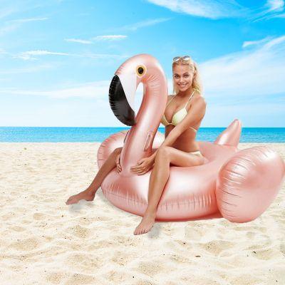 Sommer - Aufblasbarer Riesen-Flamingo in Rosé-Gold