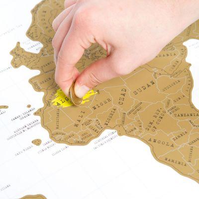 Reise Gadgets - Rubbel-Weltkarte Scratch Map