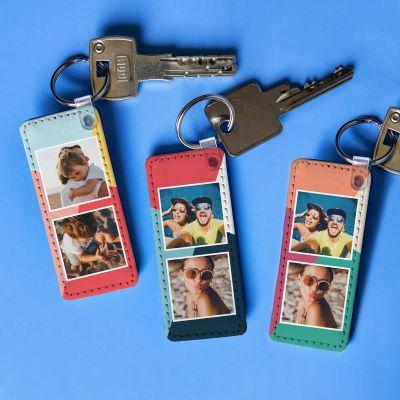 Geschenke für Eltern - Personalisierbarer Schlüsselanhänger mit 2 Bildern