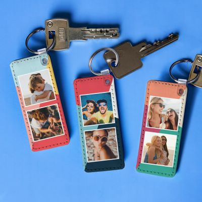 Personalisierbarer Schlüsselanhänger mit 2 Bildern