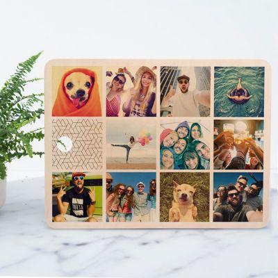 Personalisierte Geschenke aus Holz - Personalisierbares Schneidebrett mit 11 Bildern