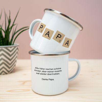 Tassen & Gläser - Personalisierbare Metalltasse Scrabble