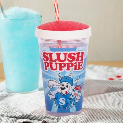Tassen & Gläser - Slush Puppie Becher mit Trinkhalm