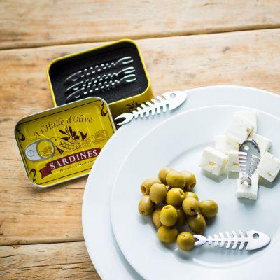 Geschenk für Paare - Snack Piekser Sardinen 6er Set