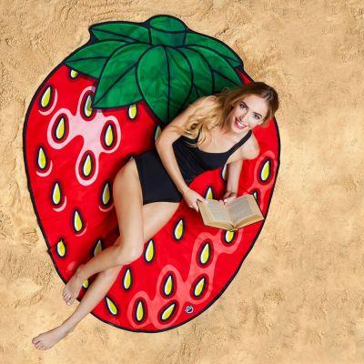 Draußen - Erdbeer Strandtuch