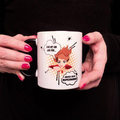 Tassen & Gläser - Personalisierbare Tasse Superwoman