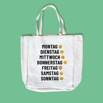 Exklusiv bei uns - Personalisierbare Tasche mit 7 Zeilen
