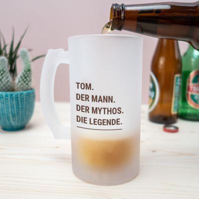 Personalisierte Tassen und Gläser - Personalisierbarer Bierkrug Modern