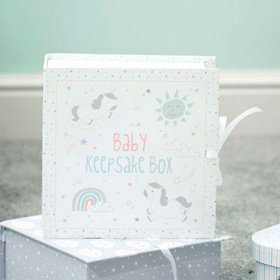 Einhorn Geschenke - Einhorn Erinnerungsbox fürs Baby